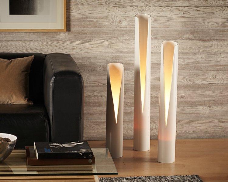 Recicla unos tubos de PVC y diseña estas elegantes pantallas de lámpara.