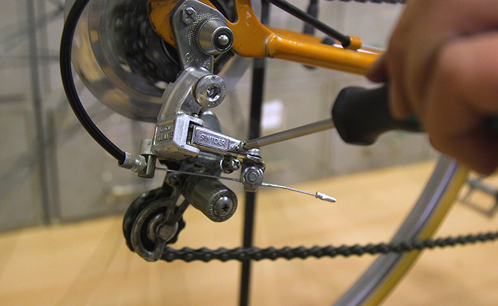 Adjust the chain while changing the gears for a smooth ride.