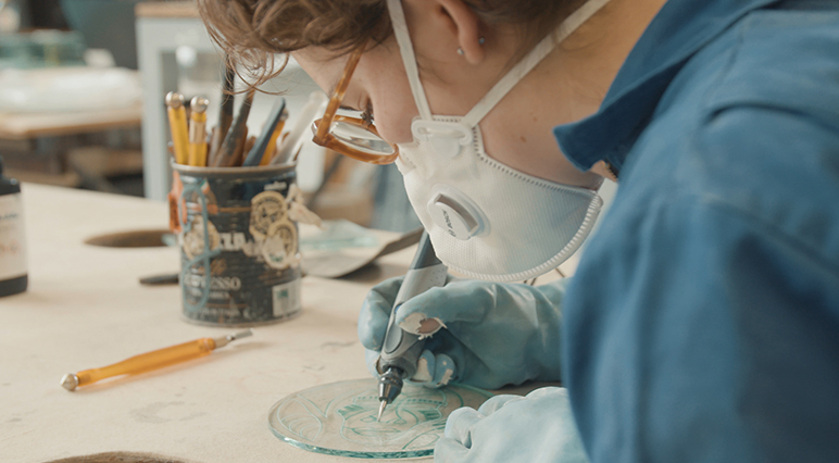 Engraving master class with Maud Wigman
