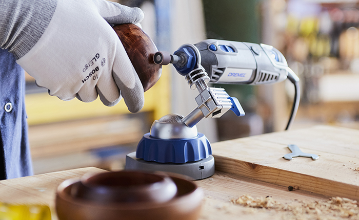 Find out how to keep your sanding surface steady.