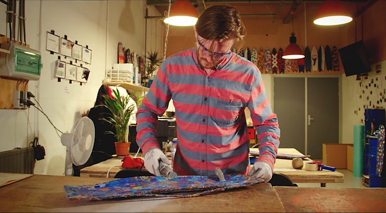 Jonathan Morrison is fighting the issue of plastic pollution with WasteBoards.