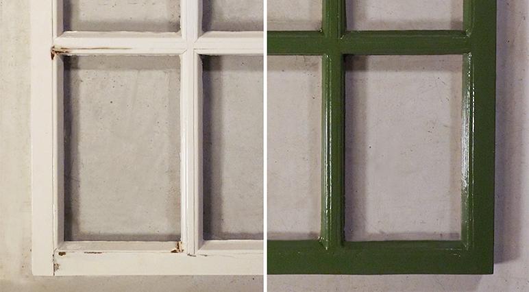 DIY: egy régi ablakkeret tökéletes felújítása