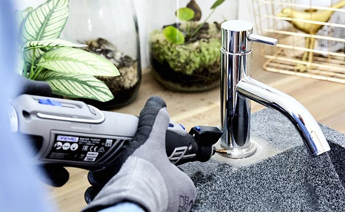 Laat jouw Dremel je helpen met een groot aantal schoonmaakklussen in het hele huis.