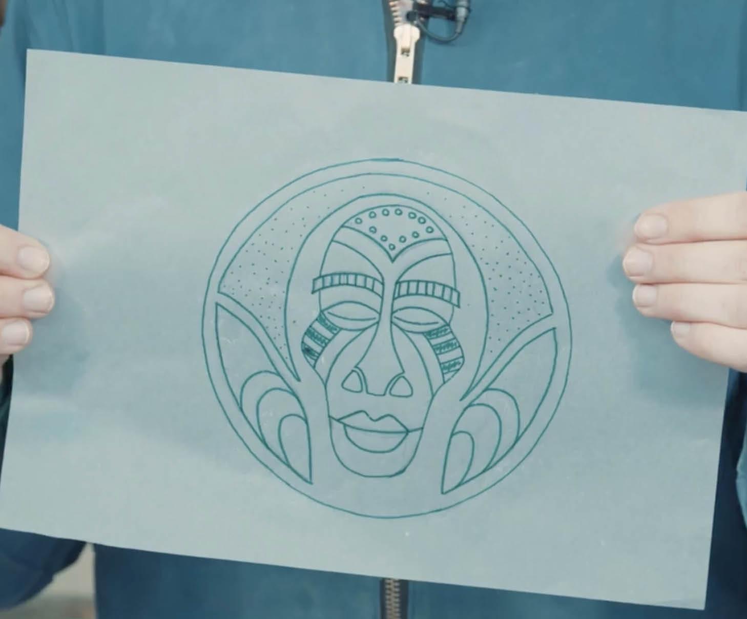 Teken je ontwerp op papier