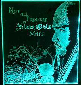 Corné Kievit - Piraten - Glas Graveren