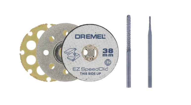 Porównaj akcesoria do cięcia Dremel.