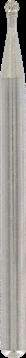 Vârf diamantat rotund 2 mm (7103)