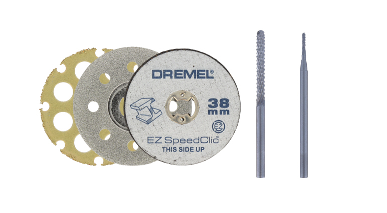 Сравните характеристики режущих насадок Dremel.