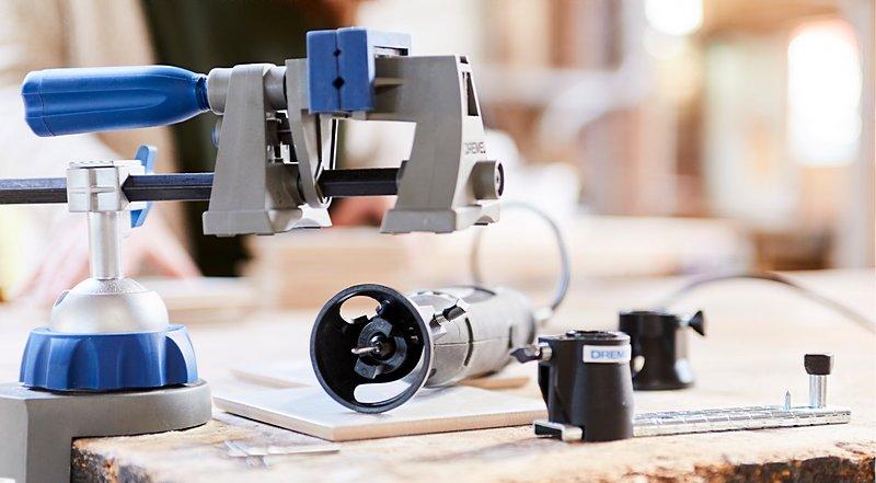 Тиски Dremel Multi-Vise обеспечивают надежную фиксацию, точность и комфорт при выполнении любого проекта своими руками