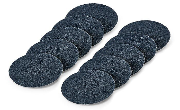 Dremel'in EZ SpeedClic Evcil Hayvan Tırnak Bakım Diskleri içeriğinde iki farklı kum seçeneği bulunmaktadır: 60 ve 240.